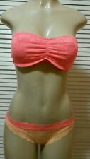 "VICTORIA'S SECRET ""PINK"" MULTI SET LACE MINI CHEEKSTER PANTY & BANDEAU Medium"