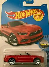 NEW Hot Wheels 2015 Ford Mustang GT Convertible (Red) - FACTORY FRESH