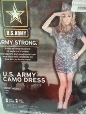 US Army Camo Dress Adult Women's Costume Small - NEW!