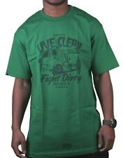 In4mation Kelly Green Street Sweeper Live Clean Fight Dirty T-Shirt Large NWT