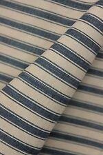 Indigo Ticking French fabric denim antique vintage indigo blue stripes material
