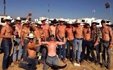 Shirtless Male Muscular Hunks Cowboy Group Shot Hot Physqiues PHOTO 4X6 C1432