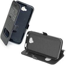 custodia eco pelle nera cover per Samsung A5 2017 SM-A520F flip case Stand
