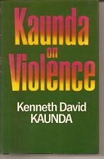 Kenneth Kaunda - Signed book with long inscription. President of Zambia