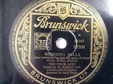 """78 rpm 10"""" THE FOUR ACES Wedding Bells / Three Coins"""