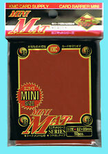 50 KMC MINI MAT RED Small Size Card Barrier Matte Deck Protector Sleeves Yugioih