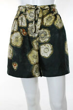 Dries Van Noten Multi-Color Floral Pleated Front Casual Shorts Size 6