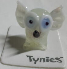 WHO OWL Bird white TYNIES Tiny Glass Figure Figurines Collectibles 0018 NEW