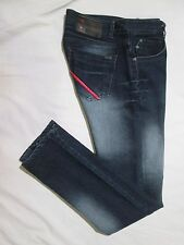 ~~ ~    DIESEL  ~ Mens   SKINNY   Denim Blue Jeans ~ Sz 33/34 x 33 ~ EXCELLENT