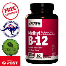 Jarrow Formulas Vegan Methyl B-12, Cherry Flavor, 5000 mcg, 60 Lozenges