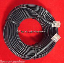Black 100' ft Telephone Modular Line Cord Phone Cable Extension Wire RJ11 VWLTW