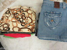 Mixed Clothing Lot Frankie B Talbots Lucky Brand  Mankind Bejeweled Jeans Tops