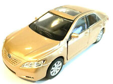 "Welly Toyota Camry 1/40 scale 4.75"" diecast model car new BEIGE GOLD w PULL BACK"