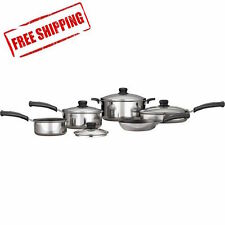 Essential 9-Piece Simple Cooking Nonstick Cookware Set Polished 9 pc