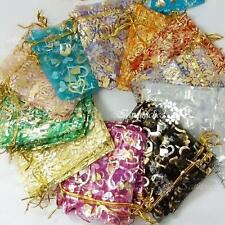 50X 9X12cm Wedding Favors Organza Gift Bags Pouches Jewelry Candy Party Supplies
