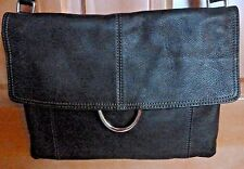 ~ ALFANI~Large Black Pebbled Leather Crossbody Messenger Handbag Purse~NWOT!