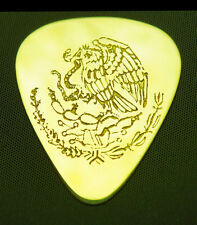 MEXICO - EAGLE & SNAKE - Solid Brass Guitar Pick, Acoustic, Electric, Bass