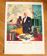 1951 Lord Calvert Whiskey Ad - Carveth Wells Exployer Author Lecturer