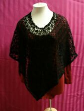 Carly Blake Black Crochet Shawl / Wrap_One Size Fits Most