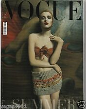 *** VOGUE ITALIA MAGAZINE JUNE 2004 Karen Elson BY Steven Meisel COVER