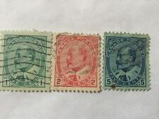 1903-08 Canada Stamps all different SC 89-91