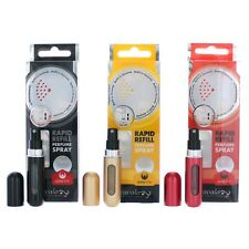Travalo  3 Pack Refillable TravelBottle Atomizers Black Gold and Red NEW