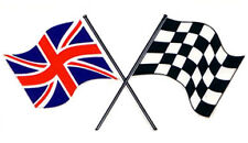 Motorsport Classic Exterior Vinyl Decal UK & Checked Morris Flags Rally Stickers