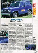 Coupure de Presse Clipping 1989 (1 page) Freeclimber Bertone 4X4