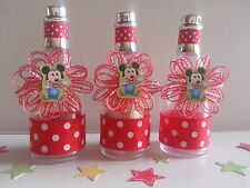 12 Mickey Mouse Fillable Champagne Bottles Baby Shower Boy First Birthday Favors