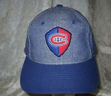 Montreal Canadiens Center Ice Authentic Sewn Adjustable Blue Hat Cap