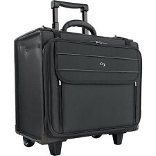 "SOLO 17.3"" Laptop Rolling Catalog Case, Hanging File Wheeled Business Case NEW"
