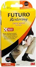 FUTURO Restoring Dress Socks For Men Firm XLarge Black 1 Pair