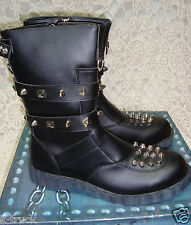 NIB - Tripp - Hot Topic - Black Studded Boots - Style Crush - Men's  12
