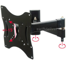 "Full Motion TV Wall Mount Bracket for Samsung Vizio Sony 24~42"" LCD LED Tilt C2A"