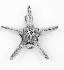'Starfish' Bright Chrome Door Knocker