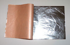 "Pure 999 Silver Leaf Sheets 100 Leaves - 3.75"" x 3.75"" Gilding, Art Work, Edible"
