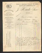 """TOURS (37) USINE de COUVERTS / ORFEVRERIE """"BERSON / J. HUDE Succ"""" en 1910"""