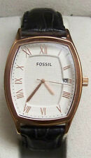 Fossil Ansel Mens Watch FS4739 Rose Gold on Black Croco Leather Strap