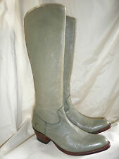 FABULOUS GREEN 100%  LEATHER KNEE/CALF HIGH COWBOY STYLE BOOTS SIZE 36