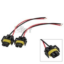 2x HID Xenon H11 H8 H9 Bulb Socket Wire Harness Power Cable Cord Connector Plug