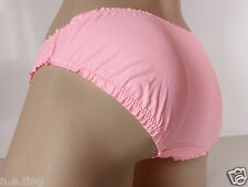 Sweet Soft Pastel Coral Silky Satiny Buttery Bikini Panties Knickers  UK L 14