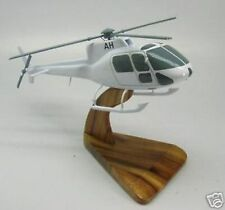 AS-350-B2 Eurocopter AS350 Helicopter Mahogany Kiln Dry Wood Model Small New