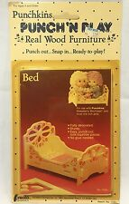 Punchkins Bed Real Wood Furniture Dolls 1982 Creata