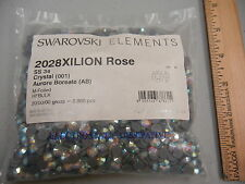 sealed package,2880 swarovski xilion hot-fix flatbacks in 34ss crystal AB #2028