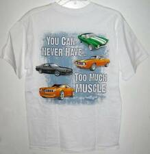 NEW! CHEVROLET MUSCLE CARS T-SHIRT White Size Medium M Tee Shirt Chevy Car