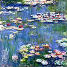 Claude Monet Water Lilies 2 canvas print giclee 8.3X8.3 reproduction of painting