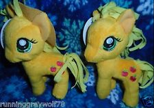 "My Little Pony Friendship is Magic HUB FIM 5"" Funrise 2 Plush Applejack 1 W/Hat"