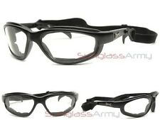 """CHOPPERS """"NIght Driving Safety Glasses"""" clear lens foam padded with neck strap"""