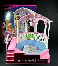Barbie Bubbling Pretty Spa Pink Sparkles Hot Tub Gazebo Water Fountain With Box