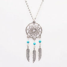 Gemma  Dream Catcher Necklace Gift  Women Girl Silver Plated